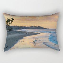 Sunrise Surfer in San Clemente Rectangular Pillow