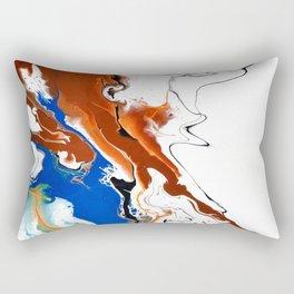 Fluid Unique Acrylic Painting Rectangular Pillow