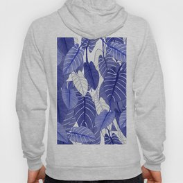 Lovely Leaves in Blue Shades - Spring Summer Mood - Blue and White #society6 #1 Hoody