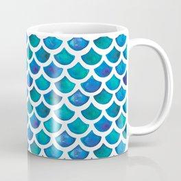 Blue Mermaid Scales Coffee Mug