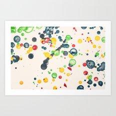 Crayon Love: Splatter This Art Print