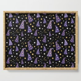 Wizard and Witch Pattern | Magic Sorcery Conjuring Serving Tray