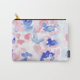 Abstract Flora Pastel Wandering Carry-All Pouch