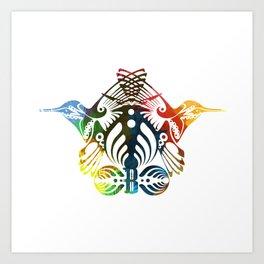Bassnectar Family Crest (Color) Art Print