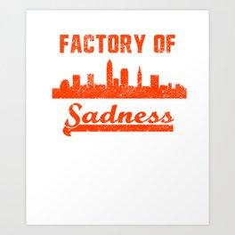 Cleveland Factory of Sadness City Skyline  Art Print