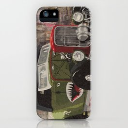 '32 Ford Roadster Warhawk Edition iPhone Case
