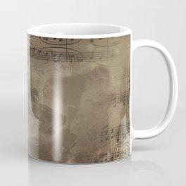 Sheet Music - Mixed Media Partiture #4 Coffee Mug