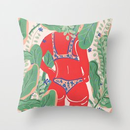 The Art Of Bikini Throw Pillow