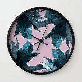 Tropical Palm Print #2 Wall Clock