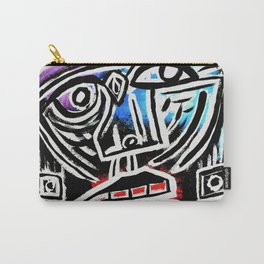 """Excuse me?"" Abstract Face Painting Carry-All Pouch"