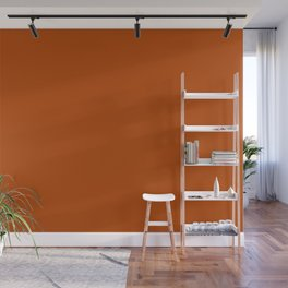 Colors of Autumn Terracotta Orange Brown Solid Color Wall Mural