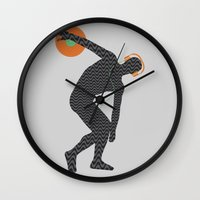 paramore Wall Clocks featuring Vinylbolus by Sitchko Igor