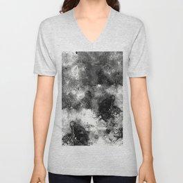 Deja Vu - Black and white, textured painting Unisex V-Neck