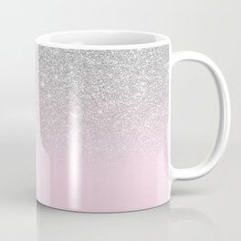 Chic Elegant Blush Pink Silver Glitter Gradient Coffee Mug