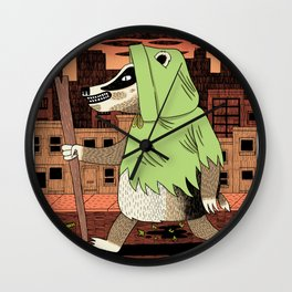 No Guts No Glory - Badger Wall Clock