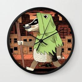 No Guts No Glory - Badger Wall Clock