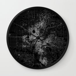 oklahoma city map Wall Clock