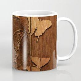 Butterfly Wood decor Coffee Mug