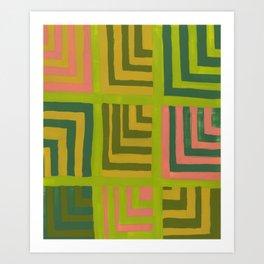Painted Color Block Squares Art Print