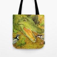 crocodile Tote Bags featuring Crocodile by Natalie Berman