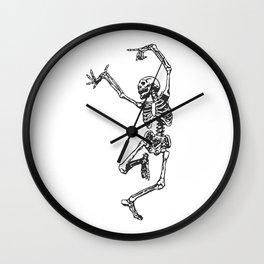 Dancer Skeleton Wall Clock