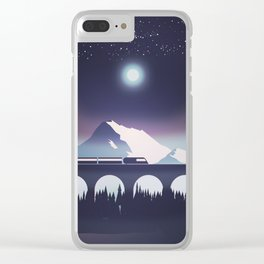 Locomotive at night Clear iPhone Case