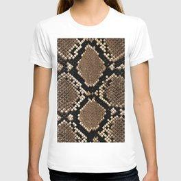 Faux Python Snake Skin Design T-shirt