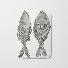 Indonesian Fish Duo – Black Palette Bath Mat