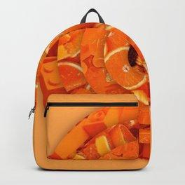 Orange circles aesthetic rings Backpack