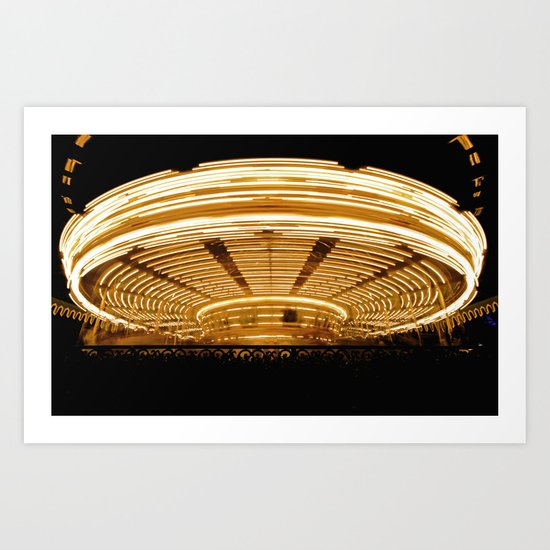 Sit and Spin Art Print