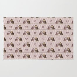 Owls in love (pink) Rug