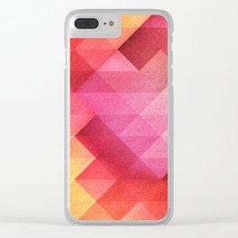 Fall pattern Clear iPhone Case