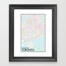 Typographic Toronto (Full Version) Framed Art Print