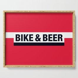 Bike & Beer by Dennis Weber of ShreddyStudio Serving Tray