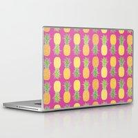 pineapples Laptop & iPad Skins featuring Pineapples by Ornaart