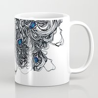 tangled Mugs featuring Tangled  by Natalie Schnitter