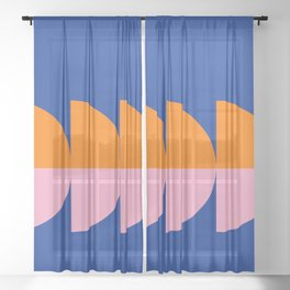 Spring- Pantone Warm color 02 Sheer Curtain