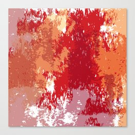 Red Orange Watercolor Canvas Print