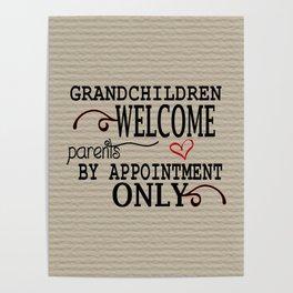 Grandchildren Welcome Poster