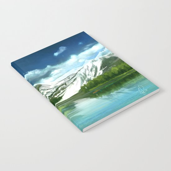 Mountain and lake landscape Notebook