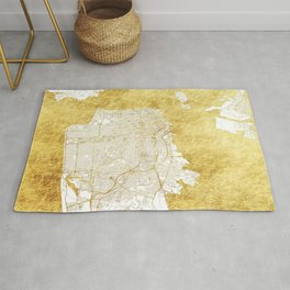 San Francisco Map Gold Rug