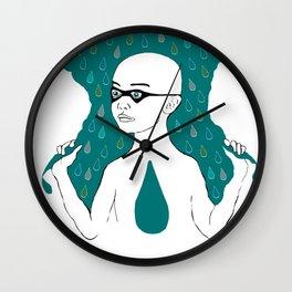 Rain Girl Wall Clock