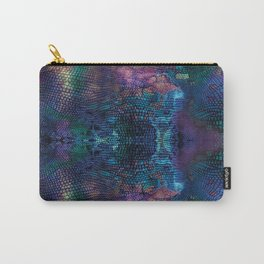Violet snake skin pattern Carry-All Pouch