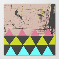 graffiti Canvas Prints featuring Graffiti by Bunhugger Design