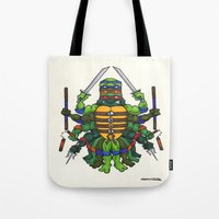 tmnt Tote Bags featuring TMNT by Artifact Supply