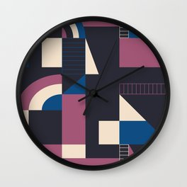 Darkish Blocks Wall Clock