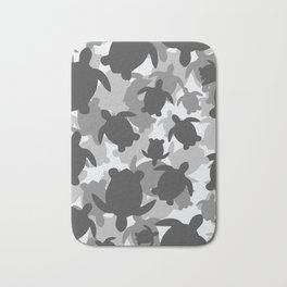 Turtle Camouflage Black and White Bath Mat