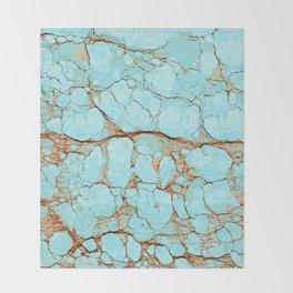 Cracked Turquoise & Rust Throw Blanket