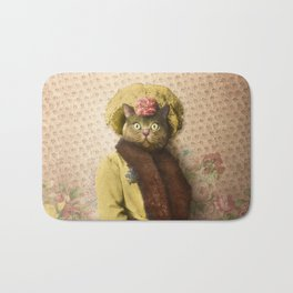 Lady Vanderkat with Roses Bath Mat