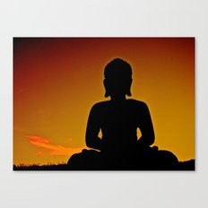 In Buddha's Shadow Canvas Print